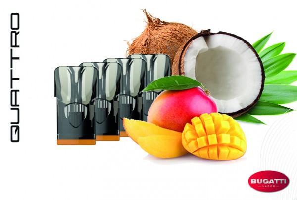 Bugatti QUATTRO Mango-Coconut Breeze E-Liquid - 4 Pods