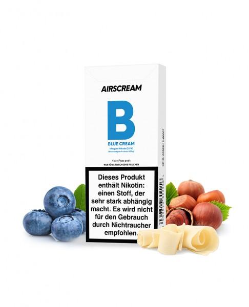 Airscream AirsPops Blue Cream - 4 Pods