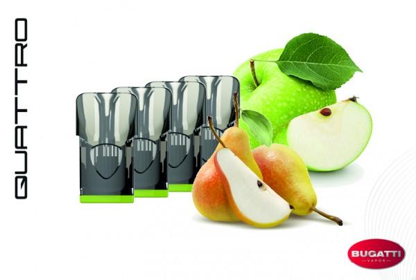 Bugatti QUATTRO Apple-Pear Fusion E-Liquid - 4 Pods