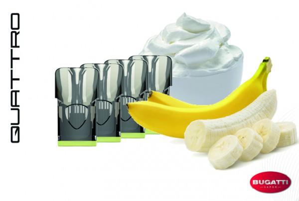 Bugatti QUATTRO Banana Cream E-Liquid - 4 Pods